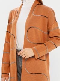 Tan - Unlined - Acrylic - Knit Cardigans