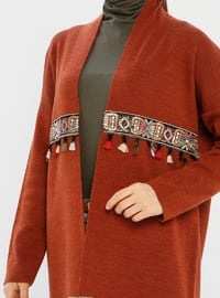 Tan - Unlined - Acrylic -  - Knit Cardigans