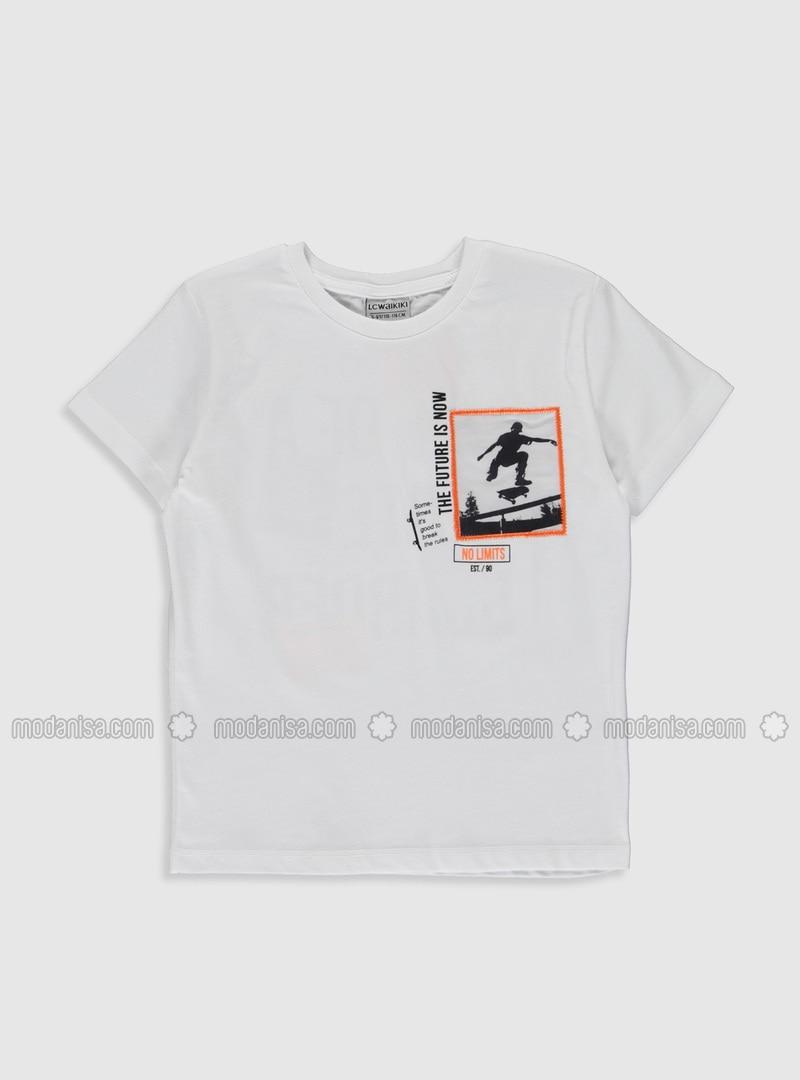 White - Boys` T-Shirt
