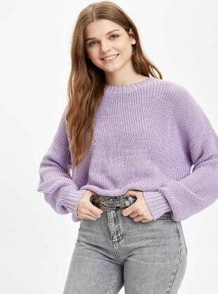 Purple - Jumper - DeFacto