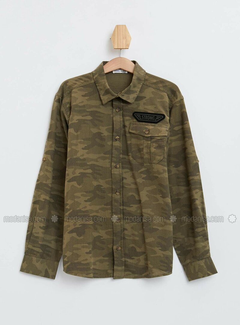 Khaki - Boys` Shirt