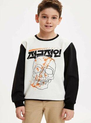 White - Boys` Sweatshirt