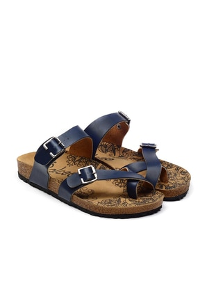 Navy Blue - Sandal - Slippers - Calceo