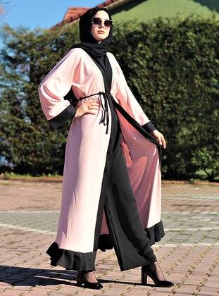 Powder - Black - Unlined - Abaya