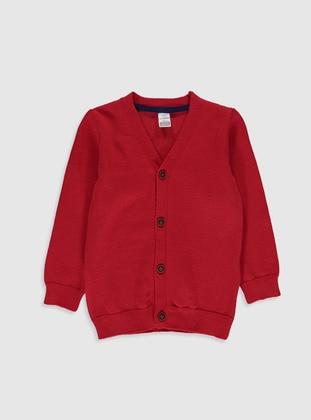 Red - Baby Cardigan - LC WAIKIKI