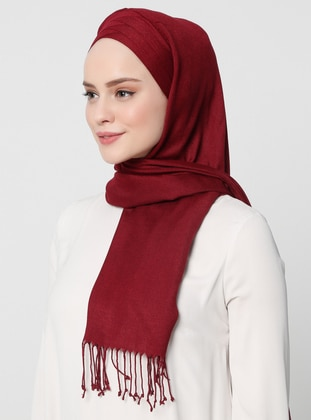 Maroon - Plain -  - Instant Scarf