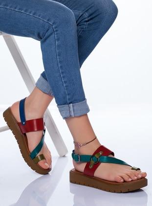 Red - Green - Sandal - Sandal