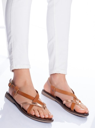 Gold - Tan - Sandal - Sandal