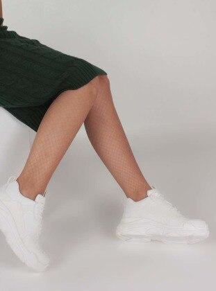 White - Ecru - Sport - Sports Shoes