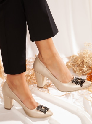 Gold - High Heel - Heels - Ayakkabı Havuzu