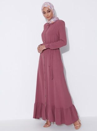 Dusty Rose - Unlined - Point Collar - Abaya