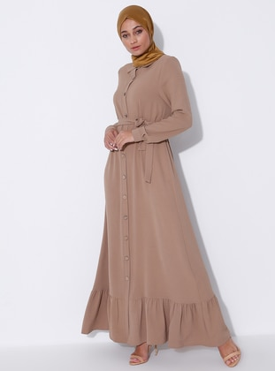 Mink - Unlined - Point Collar - Abaya