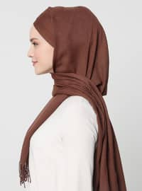 Brown - Plain -  - Instant Scarf