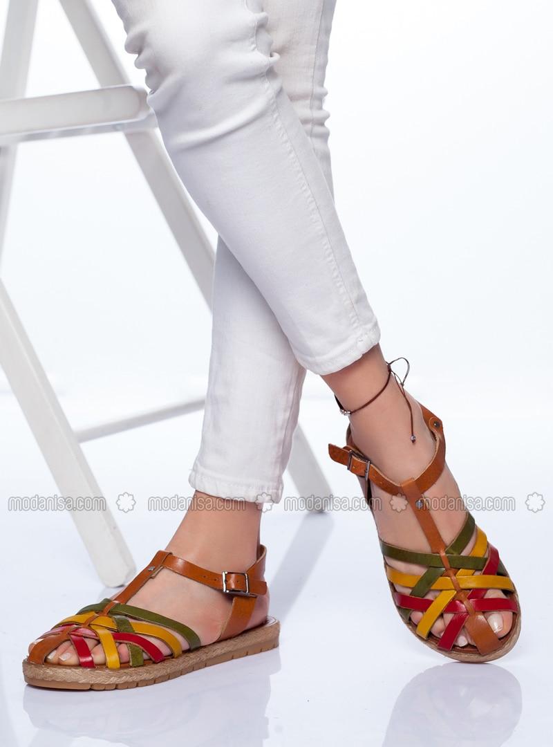 Khaki - Tan - Sandal - Sandal