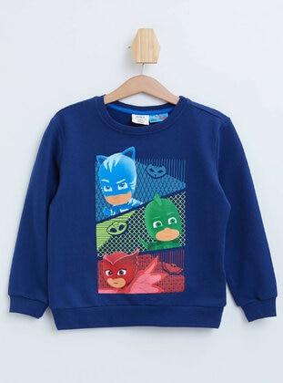 Navy Blue - Boys` Sweatshirt - DeFacto