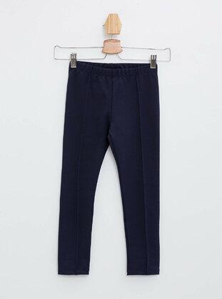 Navy Blue - Girls` Leggings
