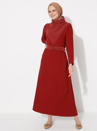 Terra Cotta - Shawl Collar - Unlined - Dress
