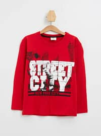 Red - Boys` T-Shirt