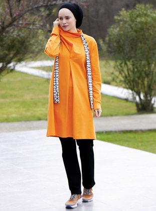 Orange -  - Polo neck - Tracksuit Set