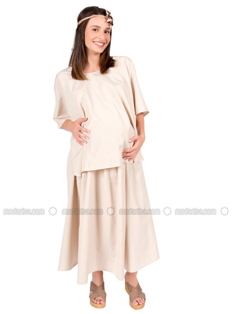 Beige - Maternity Pyjamas