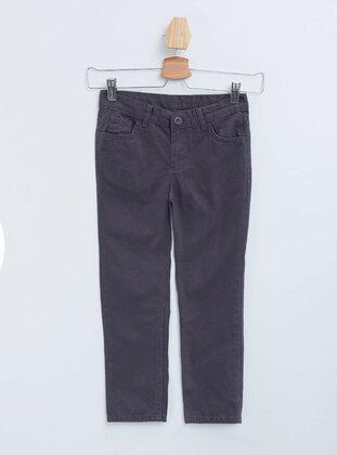 Anthracite - Boys` Pants - DeFacto