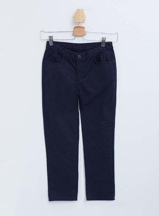 Navy Blue - Boys` Pants - DeFacto