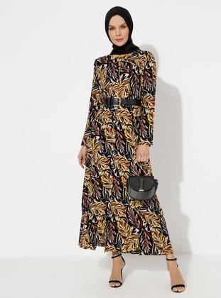 Yellow - Viscose - Loungewear Dresses