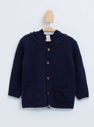 Navy Blue - Baby Cardigan