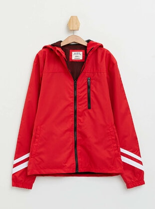 Red - Boys` Raincoat