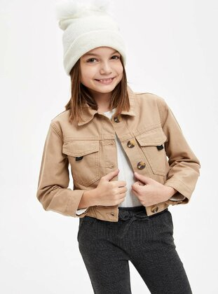 Beige - Girls` Jacket