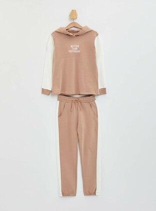 Beige - Girls` Suit