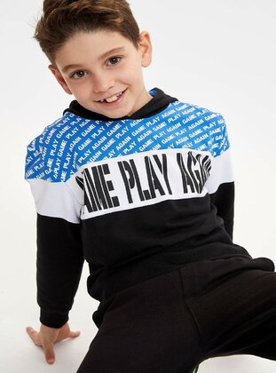 Blue - Boys` Sweatshirt