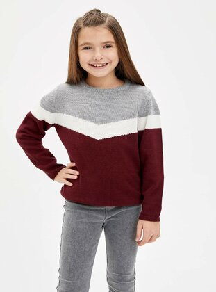 Maroon - Girls` Pullovers