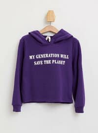 Purple - Girls` Sweatshirt