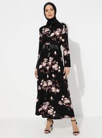 Powder - Black - Viscose - Loungewear Dresses