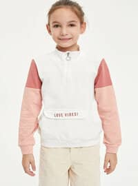 Ecru - Girls` Sweatshirt