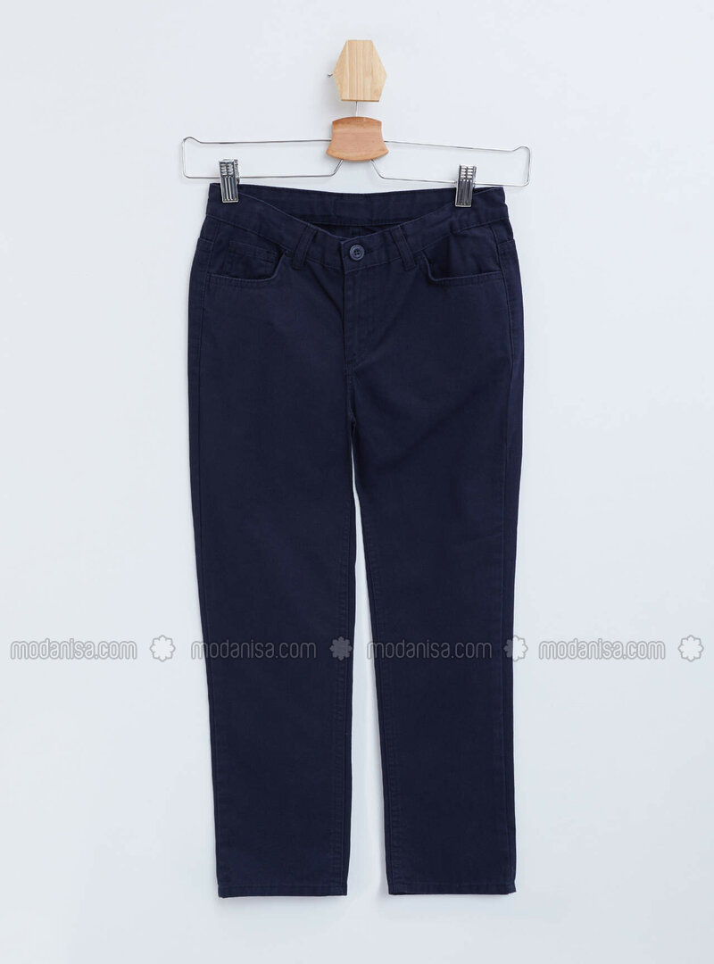 Navy Blue - Boys` Pants