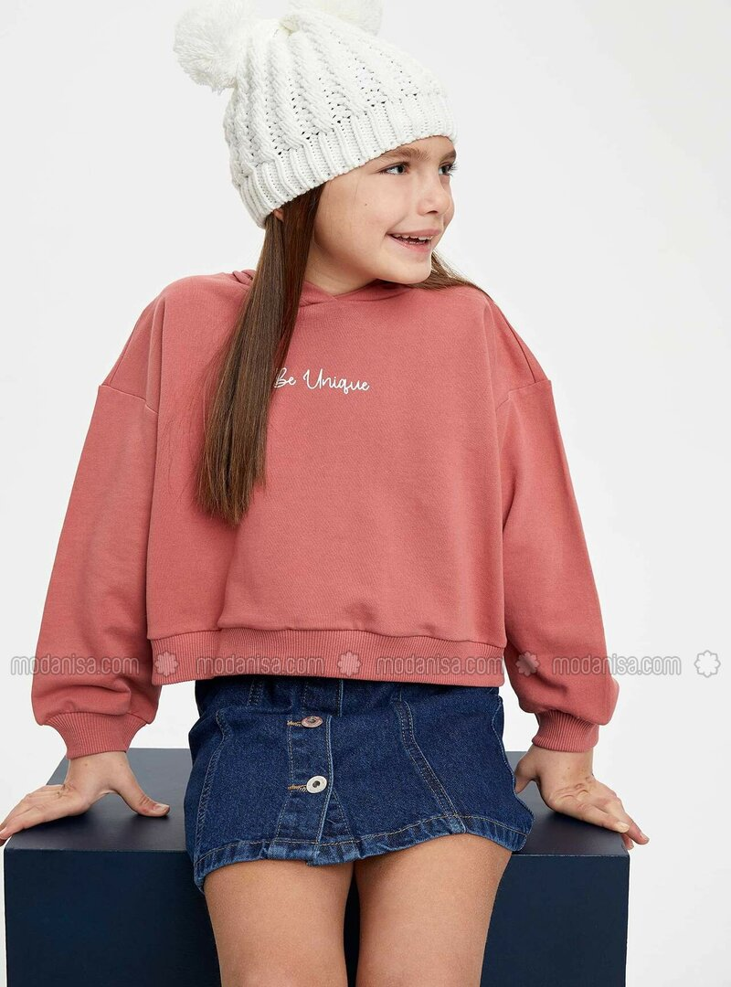 Brown - Girls` Sweatshirt