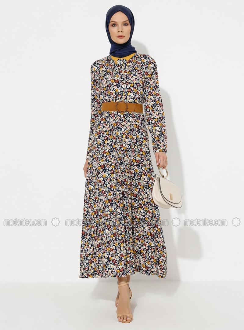 Navy Blue - Viscose - Loungewear Dresses
