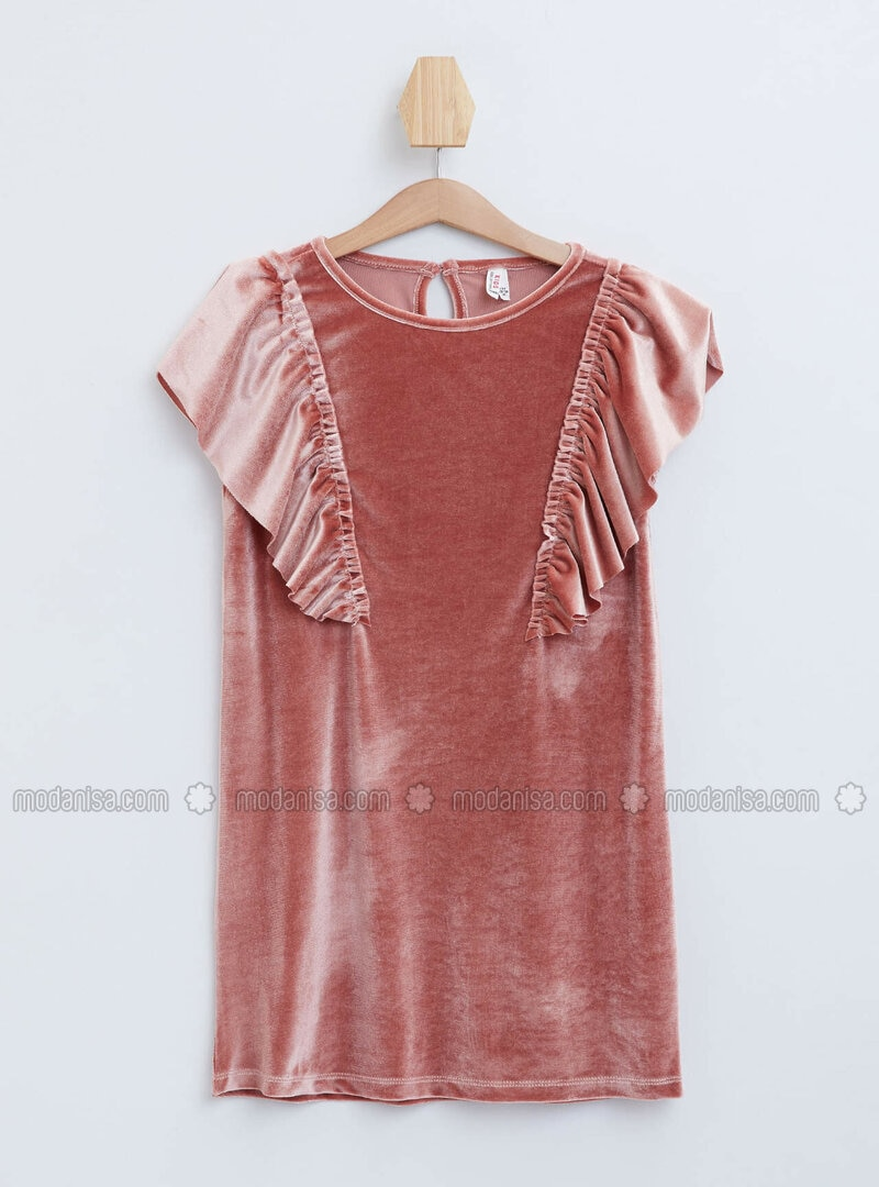 Maroon - Girls` Dress