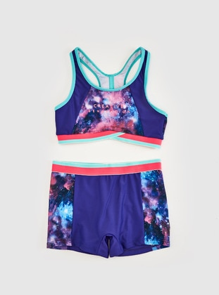 Purple - Girls` Swimsuit - LC WAIKIKI