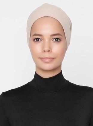 Mink - Lace up - Non-slip undercap - Combed Cotton - Bonnet - Bone