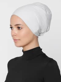 Gray - Lace up - Non-slip undercap - Combed Cotton - Bonnet