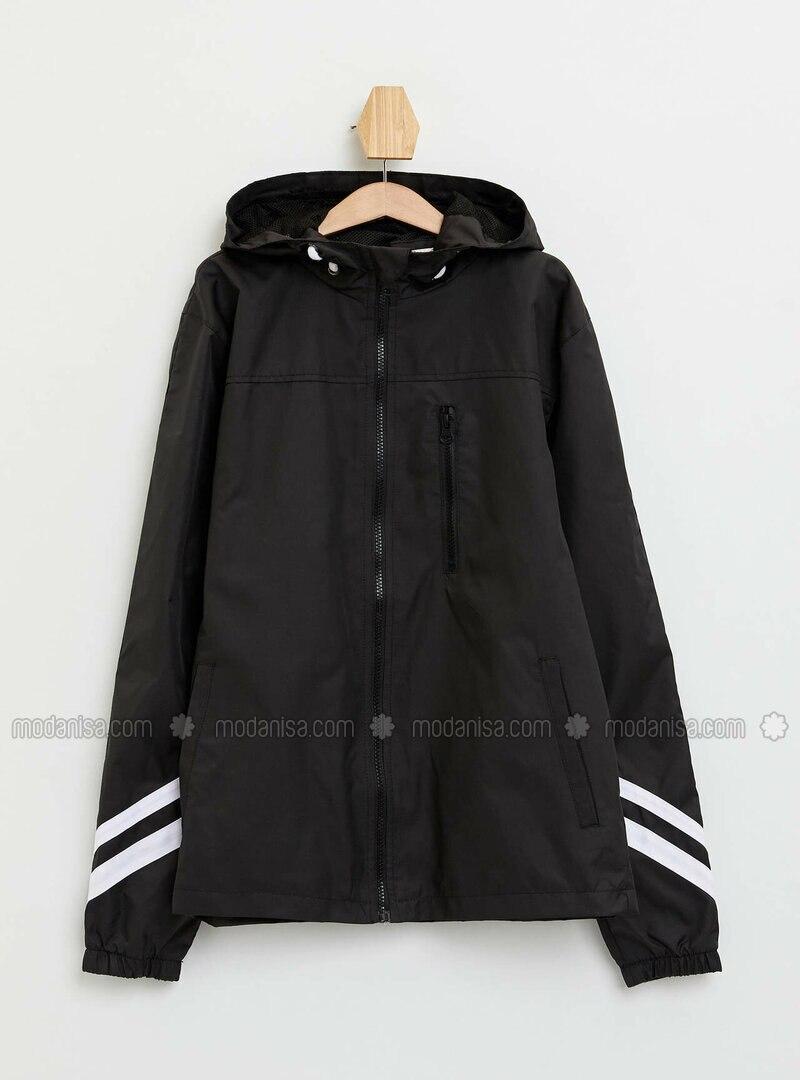 Black - Boys` Raincoat