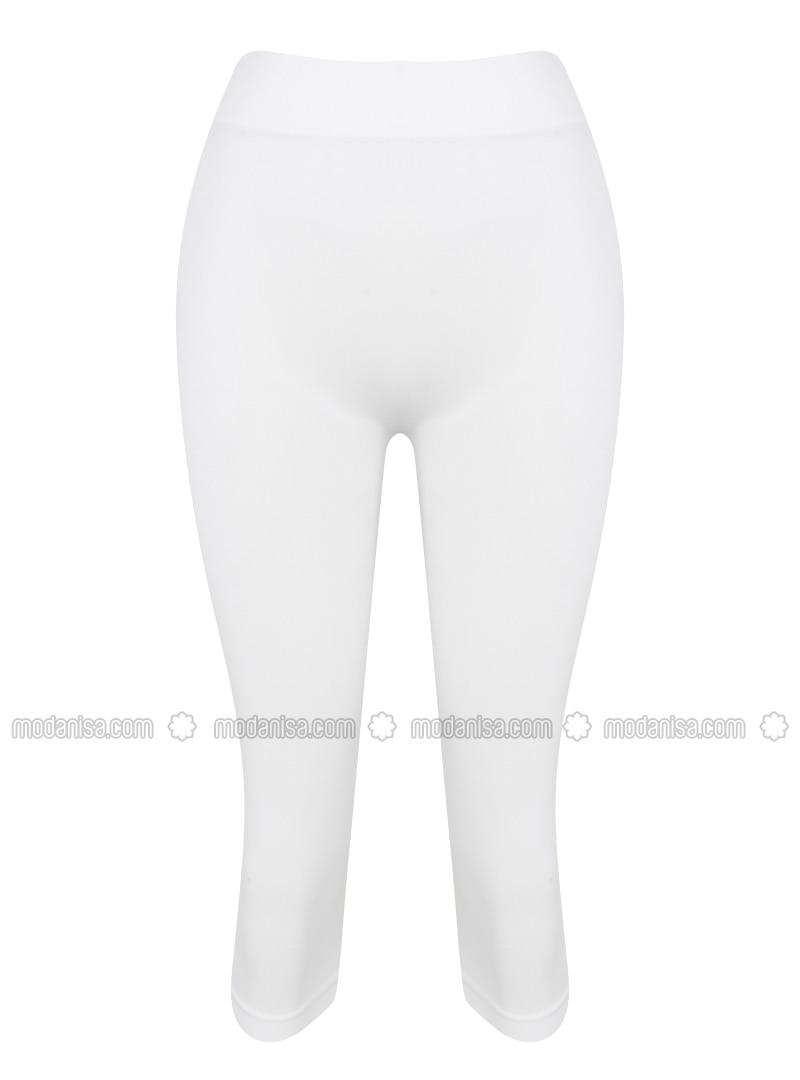 Putih Celana Legging