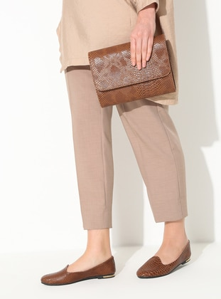 Tan - Flat - Suit - CapOne Outfitters