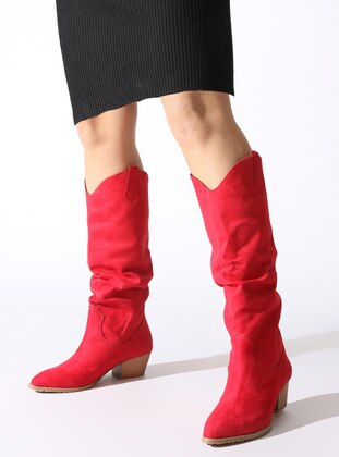 Red - Boot - Boots - ROVIGO