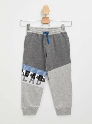 Gray - Boys` Pants - DeFacto