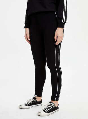 Black - Legging - DeFacto