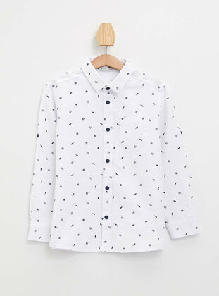White - Boys` Shirt